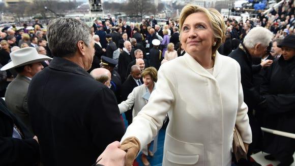 Hillary Clinton attends President Trump's inauguration