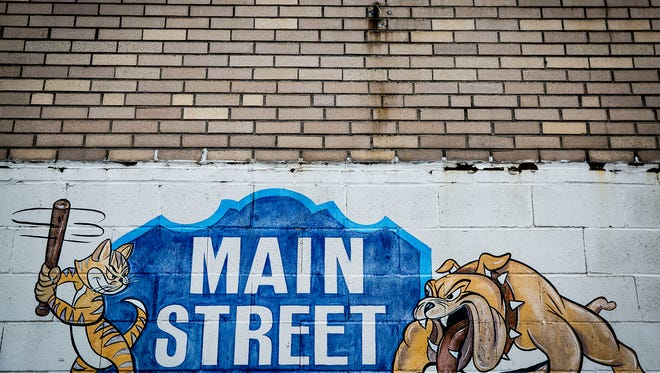 The former site of the Main Street Flea Market along East Main Street sits vacant Thursday afternoon.
