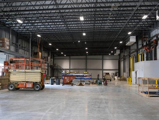 Interior of Win Chill, a new refrigerated warehouse,