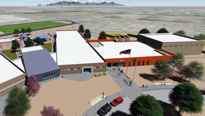 Albuquerque architectural firm Dekker, Perich and Sabatini designed the new intermediate school as the Deming Public Schools now awaits construction firm Bradbury Stamm to accept the contract offer.