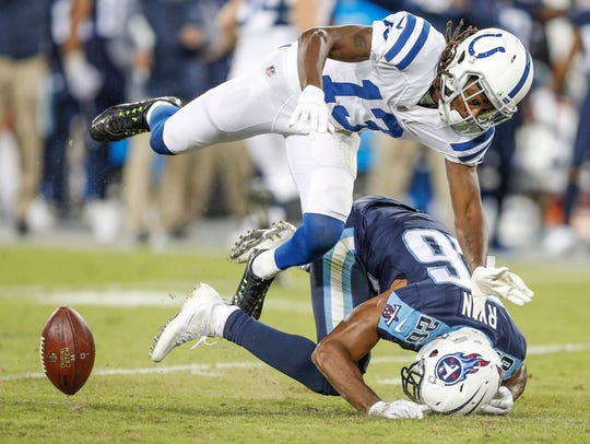 A pass intended for Indianapolis Colts wide receiver