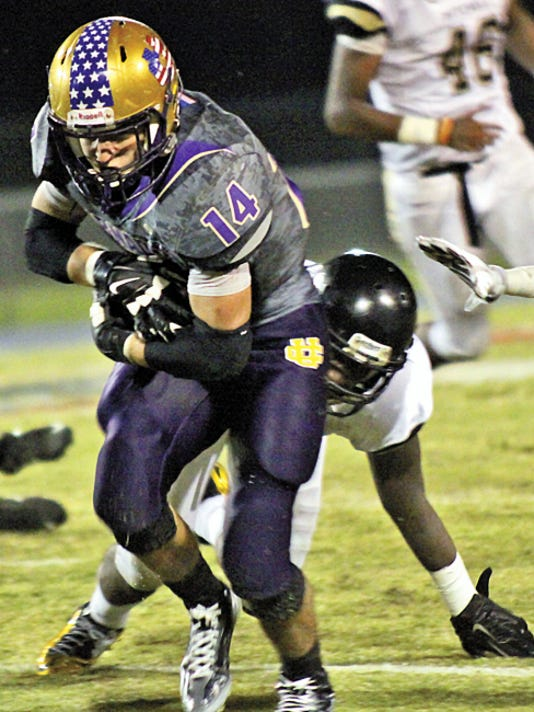 Brantley Clendenin is the leading rusher in Union City's vaunted triple option attack. He was averaging 180 yards per game through the Golden Tornadoes' first three games. PHOTO COURTESY OF THE UNION CITY MESSENGER.