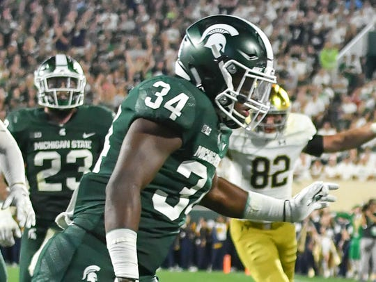 Michigan State linebacker Antjuan Simmons.
