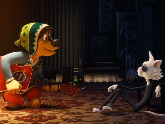 """Bodi (Luke Wilson) and Angus Scattergood (Eddie Izzard) in """"Rock Dog.""""  The movie is playing at Frank Theatres Queensgate Stadium 13."""