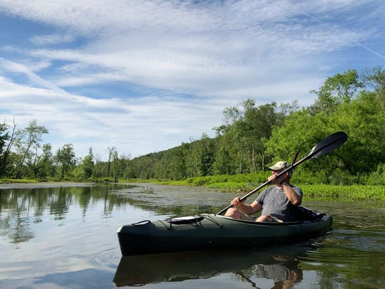 Kayaking on the Great Swamp in Patterson.