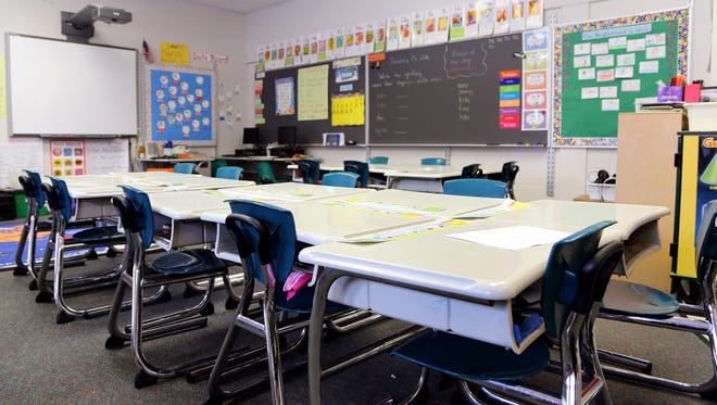 First grade class room at Ronald Brown Academy, a Detroit Public School on the east side of Detroit.