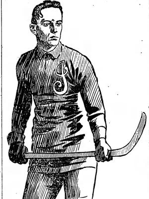 Charles Kerrigan of the Indianapolis Indians roller polo team in 1904.