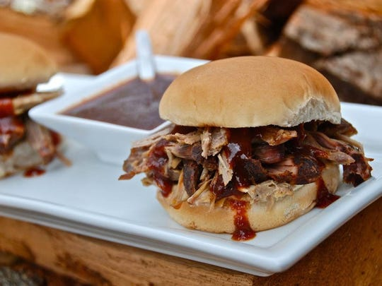 Pulled pork is a specialty of the Five Sisters Food Truck, which will take part in the Bacon, Bikes & Brews Festival at Allaire State Park.