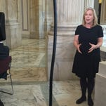 Sen. Kirsten Gillibrand, D-N.Y., discusses the 9/11 health legislation in a remote interview with the Fox News cable network from the Senate Russell Building on Dec. 2, 2015.
