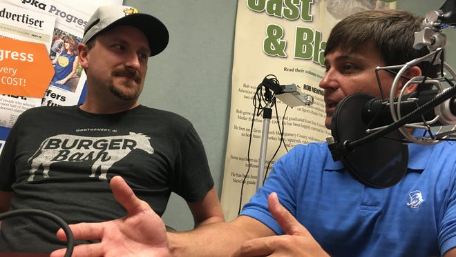 A&P Social Executive Chef Randy Gresham, left, and Dreamland and Railyard Brewing Co. Managing Partner Bob Parker talk Wednesday about the Montgomery food scene.