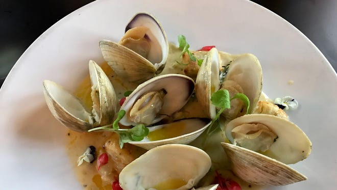 Crisp gnocchi with clams from Taverna Wood Fire Kitchen in Cape Coral.