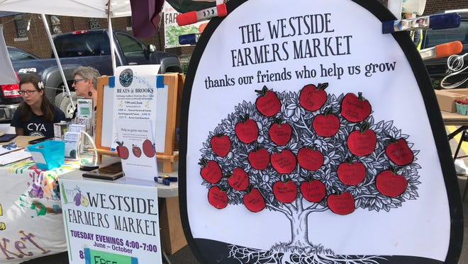 Westside Farmers Market hosts Walk and Talk with a Doc, where a heath professional talks each week on a topic in the news. The talk is ASL interpreted.