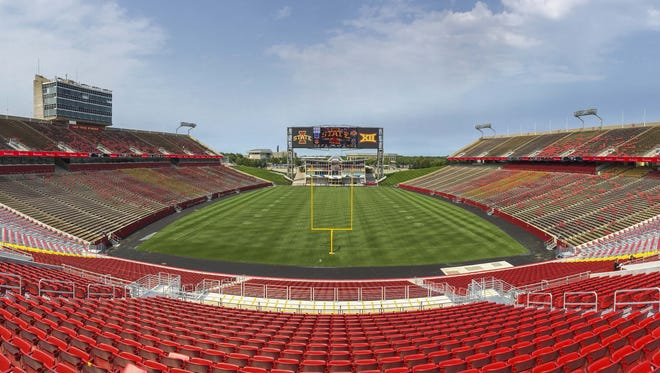 Jack Trice Stadium will host Iowa State University commencement on Saturday, May 7, 2016.