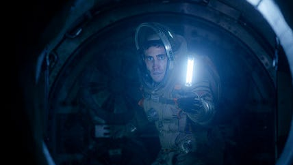 "In this image released by Columbia Pictures, Jake Gyllenhaal appears in a scene from ""Life."""