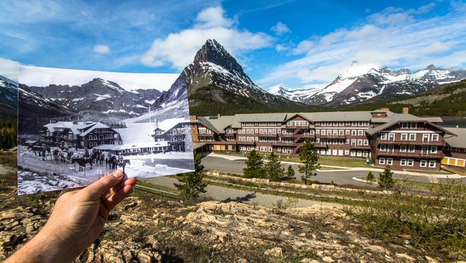 The Many Glacier Hotel was built in 1915 by Louis Hill, president of the Great Northern Railway.