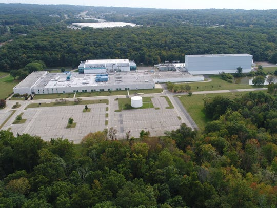 The former Novartis site in Suffern taken from a drone