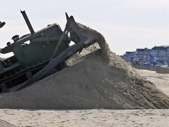 A military surplus bulldozer operated by the Belmar