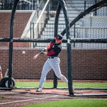 The Ball State baseball team practices on its new baseball diamond Wednesday afternoon.