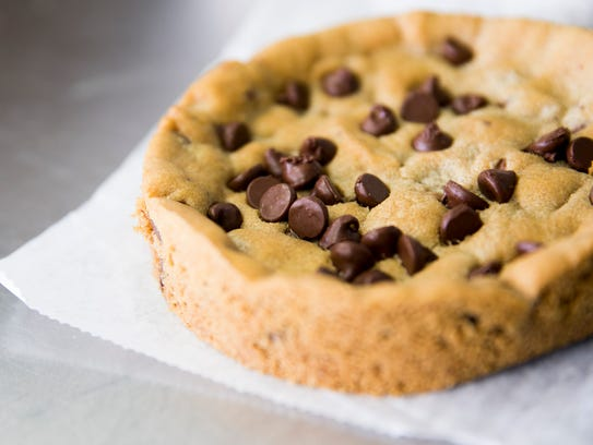 Serious Cookie Company's signature item, a plate-sized