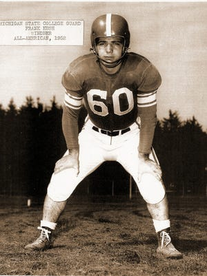 Frank Kush, a wiry, 5'7' 190-pound lineman led the Michigan State Spartans to a championship in 1952, leading to All-American honors.