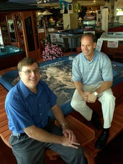 Don Oeters, left, and Jim Kathmann, previous owners