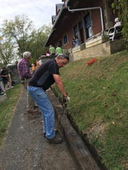 Greencastle's old train station got a facelift on Freedom Sunday.