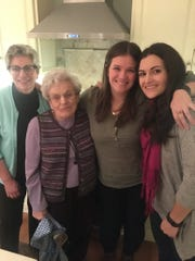 Family helped Katie through: (from left) her mom Chrys Baldwin, grandmother Mary Sarantis, Katie, and sister Jessica Baldwin.