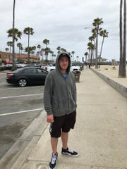 Jake White, 21, of Toms River now in California, survived