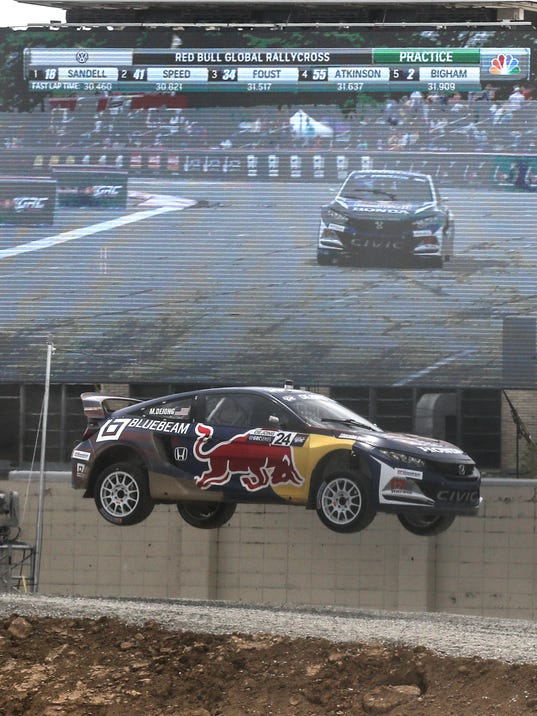 Start your engines red bull global rallycross rides into for Cross motors louisville ky