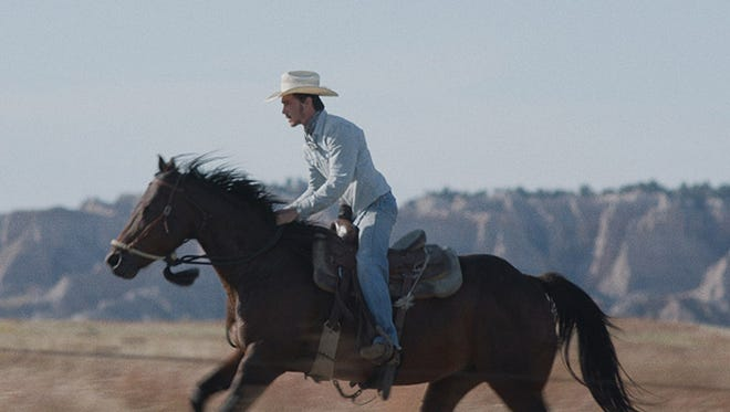 "South Dakota cowboy Brady Jandreau stars in the movies ""The Rider"" opening in Sioux Falls on Friday, May 11."