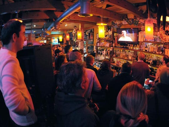 A crowd gathers at  Big Chill Surf Cantina near Rehoboth Beach for the video release party in 2013.