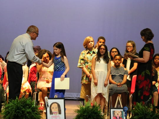 Outgoing fifth-graders moving on to Port Clinton Middle School in the fall were recognized at Bataan Memorial Intermediate School's annual awards ceremony Wednesday.