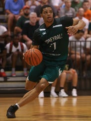 Michigan State's Miles Bridges competes during a Moneyball
