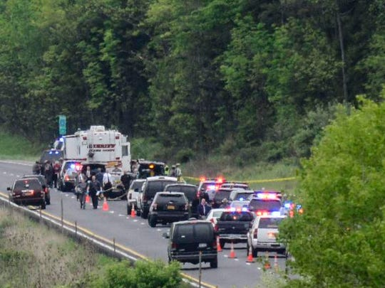 Cars travel down Interstate 81 South toward Binghamton
