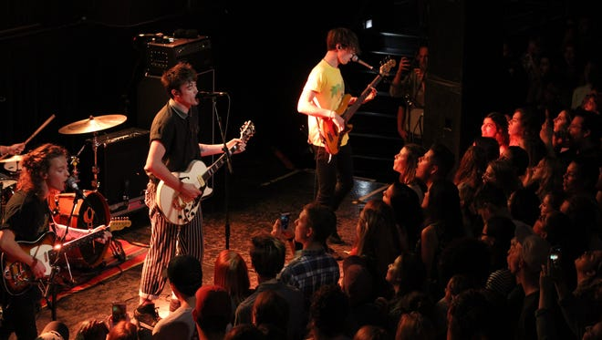 Hippo Campus in their performance at Club Downunder last Thursday.