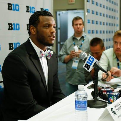 Michigan State quarterback Shilique Calhoun speaks