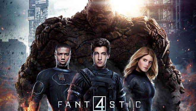 """""""Fantastic Four"""" stars Michael B. Jordan, Jamie Bell, Miles Teller, and Kate Mara."""
