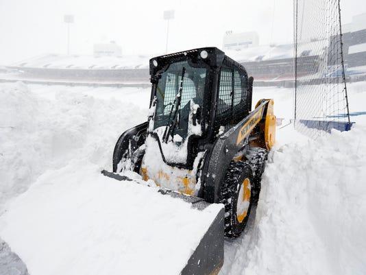 NFL: Buffalo Bills-Winter Storm Scenes