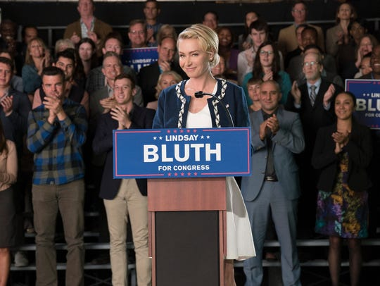 "Portia de Rossi as Lindsay Bluth on ""Arrested Development."""