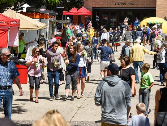 There was plenty of food, lemonade and crafts to be found at the 2017 Lemonade Art Fair at St. Cloud State University.