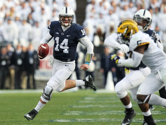 Christian Hackenberg's performance dipped his last two seasons when James Franklin took over as head coach at Penn State.