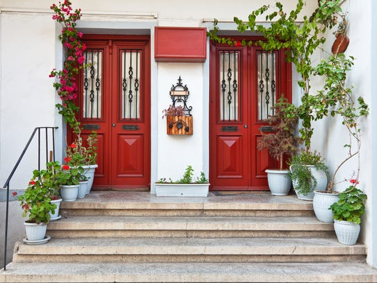red front doors. Red  front doors What does the color of your door say about you