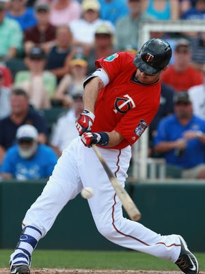 Joe Mauer has made contact on 87.4% of his swings over his career.