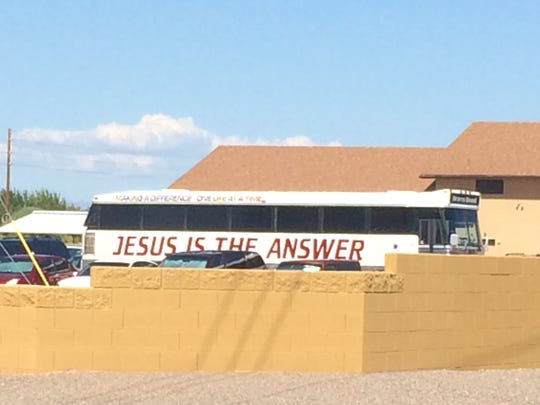 The Redeemed International Church is tucked at the