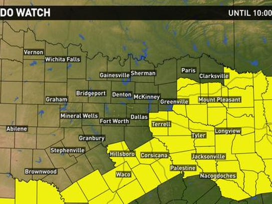 severe weather wrapup  north texas sees heavy wind  rain