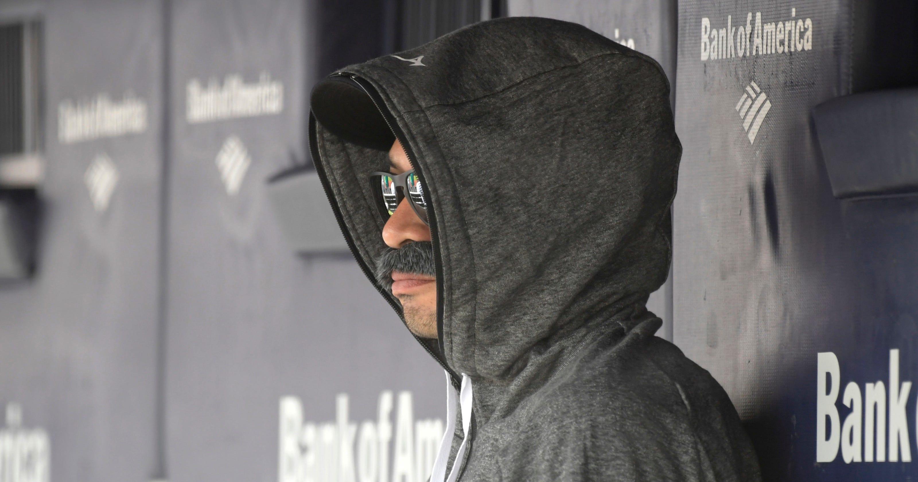 daf1b1c5fefc7 Ichiro Suzuki sat in Seattle Mariners dugout in fake mustache disguise