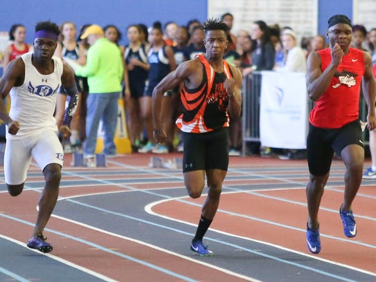 DIAA Indoor 55-meter dash champion Lewis Kungu is among the top runners for the A.I. du Pont boys track team, ranked No. 1 in Division II by N5CTA.
