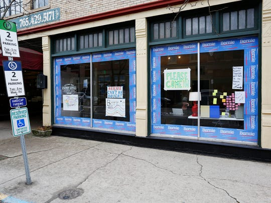 The Bernie Sanders campaign office Thursday, April