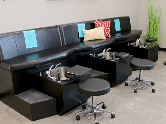 The cosmotology program at the Wichita Falls ISD's Career Education Center has a full-service salon, including manicures and pedicures.