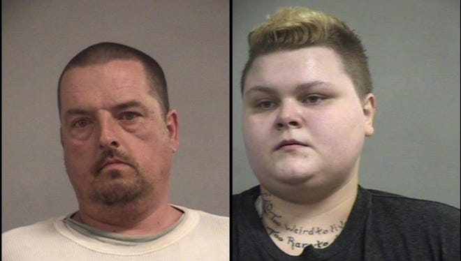 Evert Baker, left, and Amber Jewell, right.